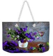 Purple Blues Weekender Tote Bag