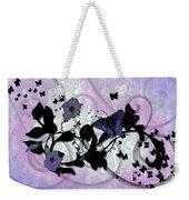 Purple Butterflies Weekender Tote Bag
