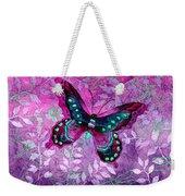 Purple Butterfly Weekender Tote Bag