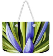 Purple Cactus Weekender Tote Bag