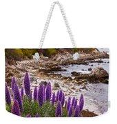Purple California Coastline Weekender Tote Bag