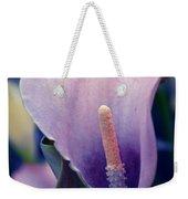 Purple Calla Flower Weekender Tote Bag