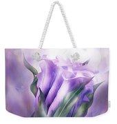 Purple Callas In Calla Vase Weekender Tote Bag