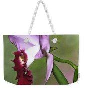 Purple Cattleya Orchid In Profile Weekender Tote Bag