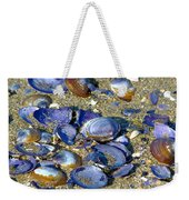Purple Clam Shells On A Beach Weekender Tote Bag