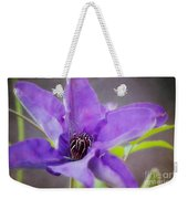 Purple Clematis Close Up Weekender Tote Bag