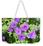Petunias Purple Club Weekender Tote Bag