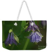 Purple Columbine Weekender Tote Bag