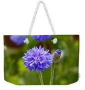 Purple Cornflower Weekender Tote Bag