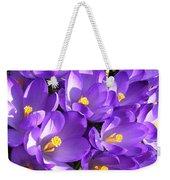 Purple Crocus Spring Welcome Weekender Tote Bag