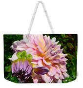 Purple Dahlia With Bud Weekender Tote Bag