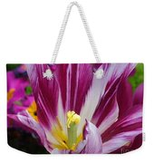 Purple Dual Coloured Tulip Weekender Tote Bag