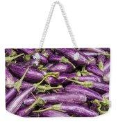 Purple Eggplant Weekender Tote Bag