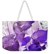 Purple Elephants Weekender Tote Bag
