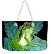 Purple Eyed Frog Weekender Tote Bag