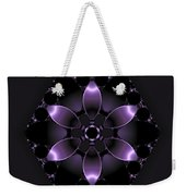 Purple Fantasy Flower Weekender Tote Bag