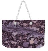 Purple Feather Weekender Tote Bag