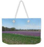 Purple Field Weekender Tote Bag