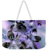 Purple Flower Abstract  2 Weekender Tote Bag