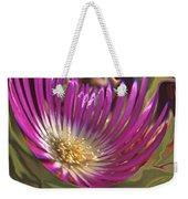 Purple Flower Abstract Weekender Tote Bag