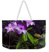 Purple Flower At Enchanted Rock Weekender Tote Bag