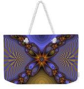 Purple  Flower Fractal Weekender Tote Bag