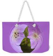 Purple Flower Orb Weekender Tote Bag