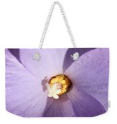Purple Flower Square Weekender Tote Bag