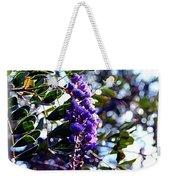 Purple Flowering Tree Weekender Tote Bag