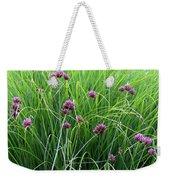 Purple Flowers And Grasses Weekender Tote Bag