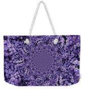 Purple Flowers Kaleidoscope Weekender Tote Bag