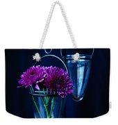 Purple Flowers Still Life Weekender Tote Bag