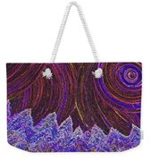 Purple Forest Moon Weekender Tote Bag
