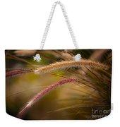Purple Fountain Grass Ornamental Decorative Foxtail Home Decor Print Weekender Tote Bag