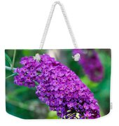 Butterfly Bush Garden Flower Weekender Tote Bag