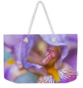 Purple Glow. Macro Iris Series Weekender Tote Bag