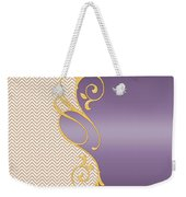 Purple Gold Chevron Weekender Tote Bag