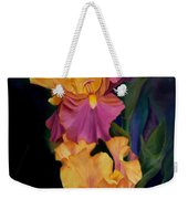 Purple Gold Irises  Weekender Tote Bag