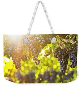 Purple Grapes In Sunshine Weekender Tote Bag