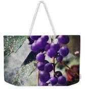 Purple Grapes - Oil Effect Weekender Tote Bag