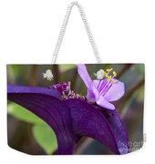 Purple Heart Flower Weekender Tote Bag