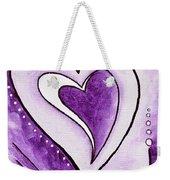 Purple Heart Love Painting Pop Art Blessed By Megan Duncanson Weekender Tote Bag by Megan Duncanson