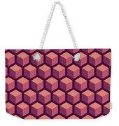 Purple Hexagonal Pattern Weekender Tote Bag