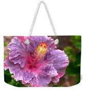 Purple Hibiscus Weekender Tote Bag