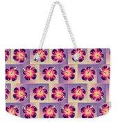 Purple Hibiscus Pattern Weekender Tote Bag