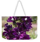 Purple Hollyhock Flowers Weekender Tote Bag
