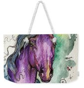 Purple Horse Weekender Tote Bag