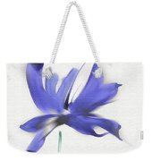 Purple Iris In The Greenery Weekender Tote Bag