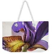 Purple Iris Macro 5 Weekender Tote Bag