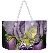 Purple Iris - Macro Weekender Tote Bag